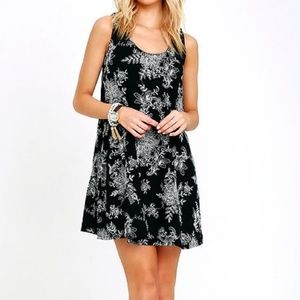 Lulu's Small Floral Embroidered Swing Dress A Line